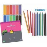 Crayons couleurs et craies à la cire