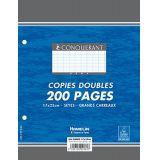 Feuilles copies doubles 17 x 22 - 90 gr.