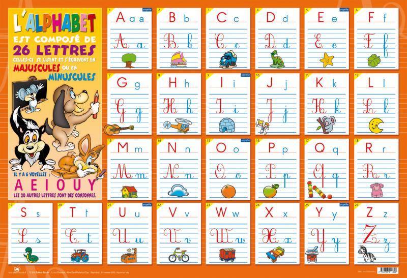 Pichon n 1 des fournitures scolaires - L alphabet en francais a imprimer ...