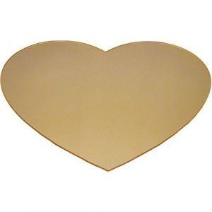 Miroir forme cœur à décorer (Lot de 10)