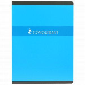 CONQUERANT Cahier 24x32cm Grands Carreaux Seyès 96 Pages Agrafées Couverture Carte Coloris Assortis