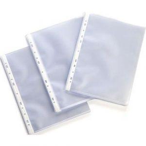 Pochette polypropylène perforées A4 incolore 75 microns  (Sachet de 50)