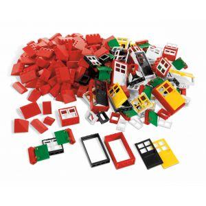 9386 ensemble de portes fenêtres et tuiles de toit lego