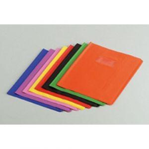 Protège-cahier plastique 17x22 cm épaisseur 12/100e - Jaune
