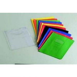 Protège-cahier 2 grands rabats plastique 17x22 cm épaisseur 18/100e - Jaune