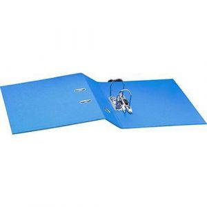 Classeur à levier plastique A4 dos: 75mm avec œillets de blocage zt porte-étiquettes - Bleu