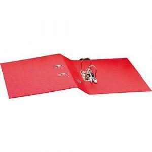 Classeur à levier plastique A4 dos: 50mm avec œillets de blocage - Rouge