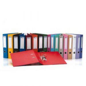 Classeur à levier plastique A4 dos: 50mm avec œillets de blocage - Noir