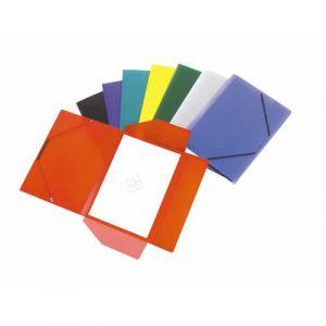 Chemise polypropylène élastiques et rabats pour format A4  épaisseur 4/10e couleurs assorties
