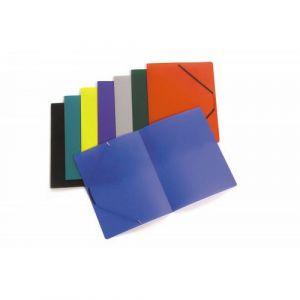 Assortiment de 30 chemises élastiques polypropylène 5/10e couleurs assorties pour format A4