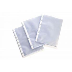 Pochette polypropylène incolore perfores A4 (Sachet de 50)