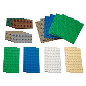 Petites plaques de construction légo