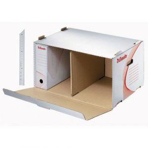 Container pour 6 boites archives dos de 8 cm.  Format 55x35x27cm