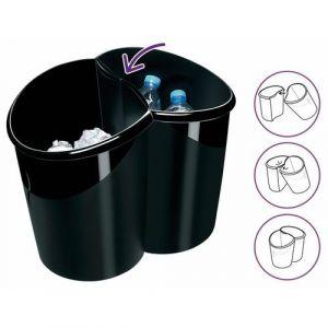 Duo de corbeilles pour tri sélectif 100% recyclées et recyclables