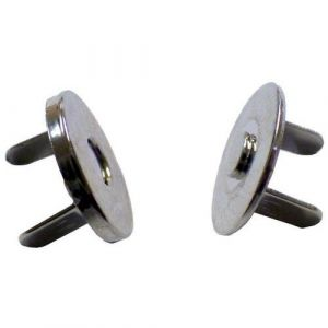Bouton magnétique argent (Lot de 10)