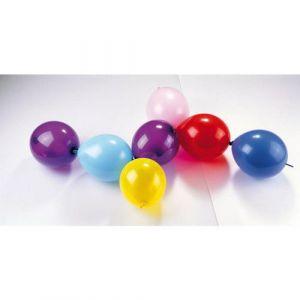 Sachet de 100 ballons baudruche, double attache
