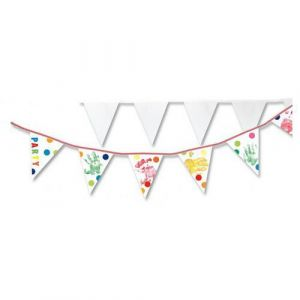 Banderole de 15 fanions à décorer (Lot de 2)
