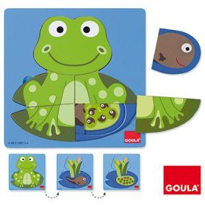 Puzzle encastrement bois la grenouille