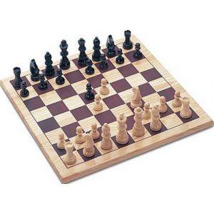 Plateau de jeu d'échecs en bois massif