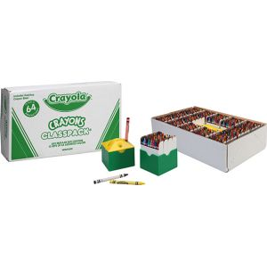 Classpack 832 crayons à la cire Crayola + 2 taille-crayons offerts