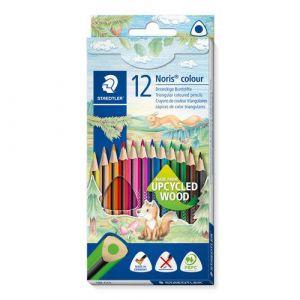Etui 12 crayons Noris triangulaire