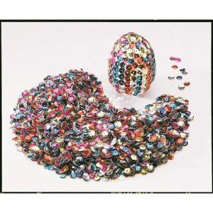Boite de 100 g cuvettes de 6 mm couleurs métallisées