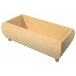 Boîte vide-poches en bois à décorer 20 x 10 x 5,7 cm