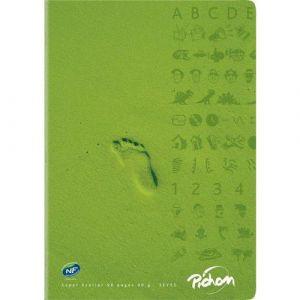 Cahier piqûre 96 pages 24x32 cm seyes super 90g - Vert