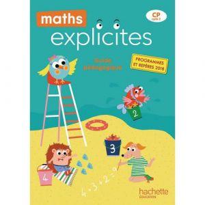 9782016271988 maths explicites cp guide pédagogique + clé usb edition 2019