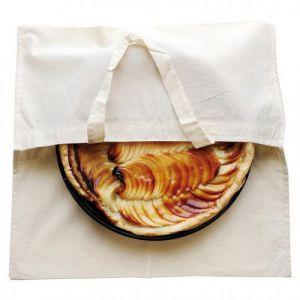 Sac à tarte en coton naturel à peindre ou à décorer 40 x 40 cm (Lot de 10)