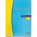 Cahier pour DYS 46 pages lignés interlignes 3 mm 90 g 17x22 cm