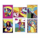 Lot de 6 cartes à sable autocollantes à décorer ART 19 x 15 cm