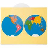 Carte puzzle 'Le monde'