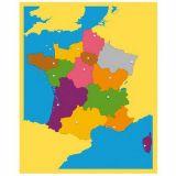 Carte puzzle 'La France'