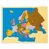 Carte puzzle 'L'Europe'