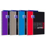 OXFORD Cahier Etudiants Activebook A4+ Ligné 7mm 160 Pages Reliure Intégrale Couverture Polypro Coloris Assortis