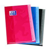 OXFORD Répertoire Color Life 11x17cm Petits Carreaux 5mm 192 Pages Brochées Couverture Carte Coloris Assortis