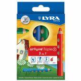 Etui 6 crayons Groove TRIPLEONE