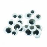 100 yeux Noirs / couleurs Diam.6 à 24mm  non-adhésif