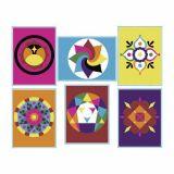 Lot de 6 cartes autocollantes à décorer « Mandala »