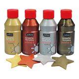 Assortiment 4 flacons  250 ml gouache metallisee primacolor pebeo