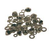 Pot 100 gr perles bijoux et anneaux argentes assortis