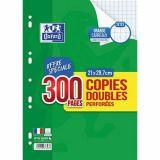Copies doubles 200 pages seyes 90g A4 perforées + 100 pages offertes (Etui de 50)