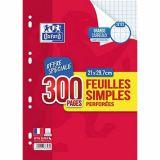 Feuillets mobiles 200 pages seyes 90g perforées A4 + 100 pages offertes (Etui de 100)
