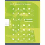 Cahier maternelle 17x22 cm 32 pages 90g 1 feuille lignée 4 mm, 1 feuille unie