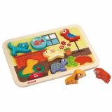 Puzzle les animaux domestiques Chunky