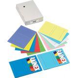 Paquet de 5 pochettes coin en carte à fenêtre format 22 x 31 cm  - blanc