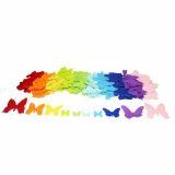 Pochette de 150 papillons en feutrine adhésive