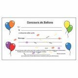 Carte de lâcher de ballons sans cavalier (Paquet de 100)
