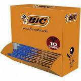 Stylo bille pointe fine Bic (Pack collectivité de 100) bleu